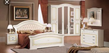 габариты прикроватной тумбочки в Кыргызстан: Спальня «Любава 5»Кровать: двухспальнаяШкаф: 5-ти дверныйПрикроватная