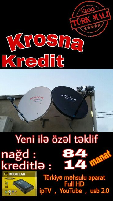 Bakı şəhərində Krosna kreditle ilkin 14 TV den zovq alin. tam orginal Turkiye mehsulu