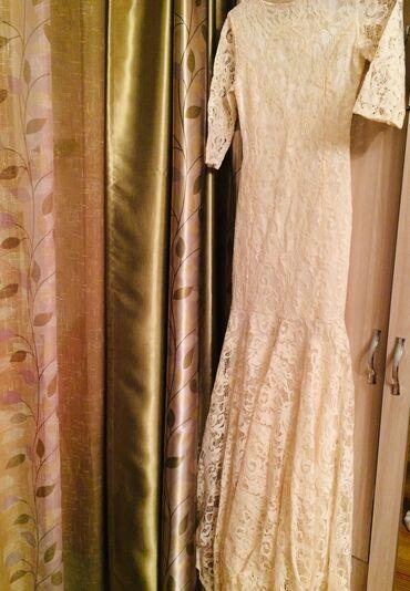 Продаю платье  Вечернее  Xs  Айвори  Низ платья по полу  Очень красиво