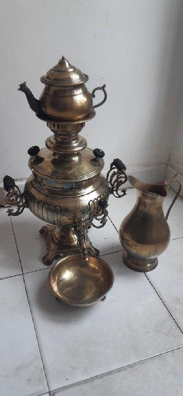 Bağ və bostan üçün digər əşyalar - Ceyranbatan: Bürünc samovar desti 6 litr
