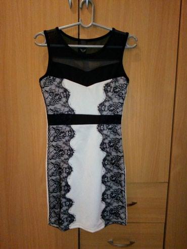 Divna crno-bela haljina sa cipkom. Polovna, kao nova, bez ostecenja. - Belgrade
