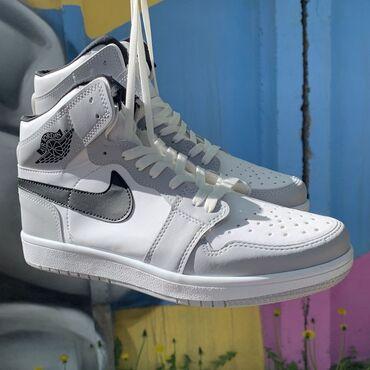 Мужская обувь - Кыргызстан: Nike Air Jordan 1 GreyЭир/аир жордан 1• Бесплатная доставка по городу