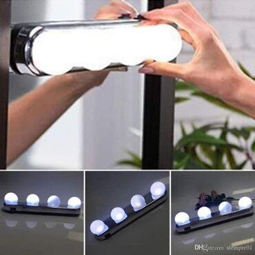 Led lampe za ogledalorade na baterije i lako se stavljaju i skidaju