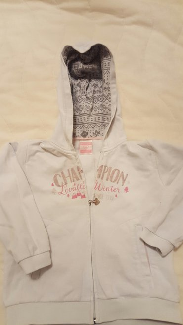 CHAMPION duksic za devojcice, bele boje sa kapuljacom, vel 3, br 98, - Nis