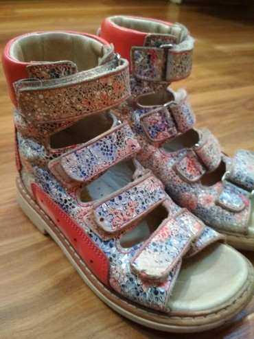 сандалии 27 размер в Кыргызстан: Ортопедические сандалии летние на девочку. Фирма woopy. Размер 27