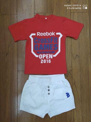 мужские шорты в Кыргызстан: Комплект футболка+шорты на 2-3-4 года 100% хлопок, идеальное
