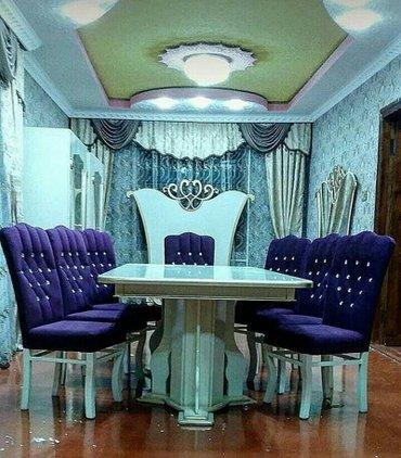 Bakı şəhərində Masa ve oturacaq desti stol stullar 6 eded stulla,fabrik istehsali