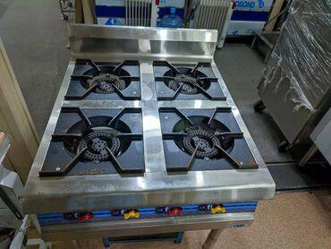 доставка продуктов питания на дом бишкек в Кыргызстан: Газовая плита 4-х горелочная используется на предприятиях