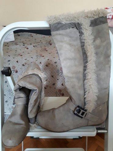 Sive cizme. Polovne ali bez ostecenja,br. 39 - Novi Sad