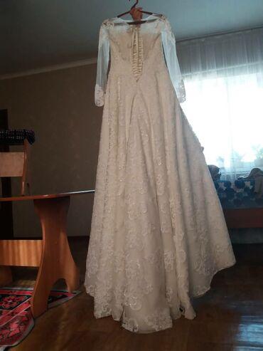 черное вышитое платье в Кыргызстан: Платье свадебное турецкое фирмовое .1500сомрв в день