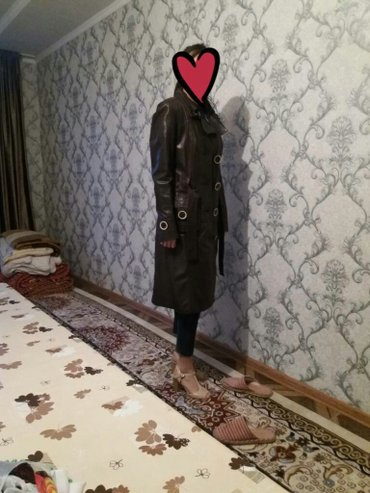 сюртук весенний в Кыргызстан: Продаю почти новый сюртук,женский,чисто турецкий,кожаный,цвет