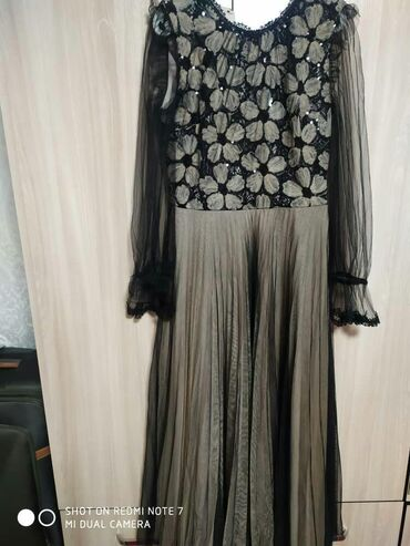 чёрное вечернее платье в пол в Кыргызстан: Вечернее платье одевала 1раз. Покупала намного дороже