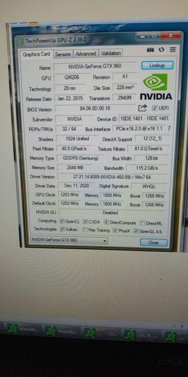 Продаю видеокарту Nvidia Geforce GTX 960 в отличном состоянии