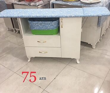 Ütü masası 75azn Dolab ölçüleri: en-90sm; derinlik-30sm; hünd-84sm Ütü
