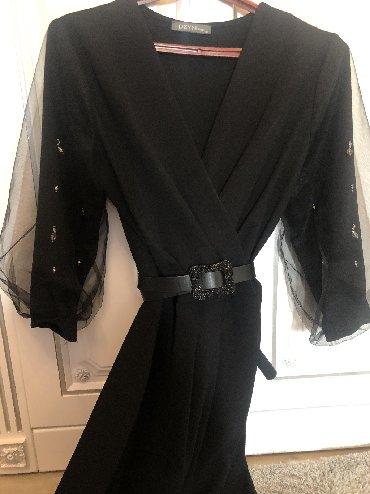 черное платье на свадьбу в Кыргызстан: Продаю красивое платье. Размер 38. Покупала в Димоде за 4600. Одевала