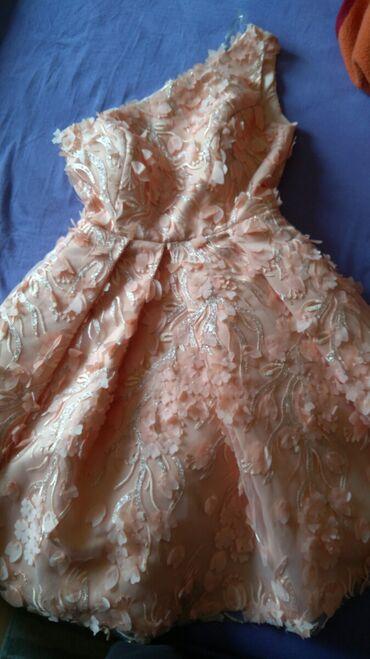 Haljina za svecane prilike3D cvetovi po celoj haljini,sa srebrnim