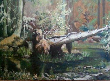 Продаю копию картины Шишкинахолст масло цена: 5000 сом размер 75×55