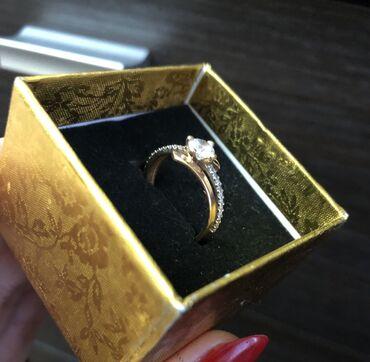 Кольцо, золото, Россия, размер фианит, 7000 сом