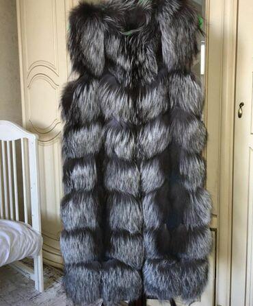 Продаю жилетку натуральная чернобурка размер 42-44 5000сом
