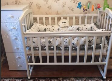 бу детские кроватки в Кыргызстан: Свези переездом СРОЧНО продаю детскую кроватку почти новую Ложе: 2