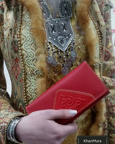 Кошелек  натуральная кожа  качество 100%  с кыргызским орнаментом 🇰🇬 в Бишкек