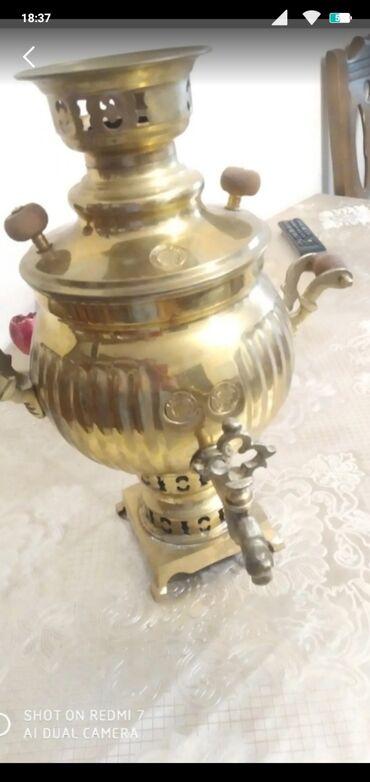tefal чайник в Азербайджан: Samovar 2lt qedimi.150manat.Komurle isleyir
