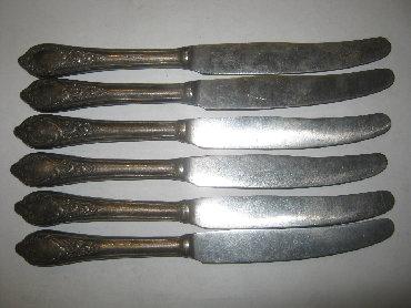 Ножи - Кыргызстан: Набор ножей для десерта (без зубчиков), 6 шт.Лезвие сталь. Ручка