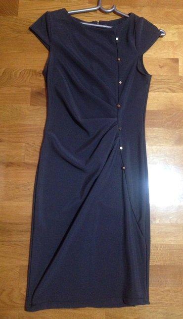 Haljina-please-italy - Srbija: Siva elegantna haljina made in Italy sa nitnama elegantna S velicina