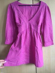Svetlucava pink bluza, l velicina, ima i kaisic koji se vezuje pozadi - Pozega