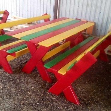 Стол и скамейки для детей. в Бишкек