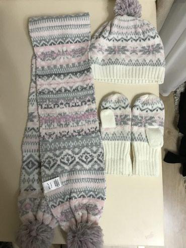 Продаю комплект (шапка+шарф+варежки) на 1-3 года в Бишкек