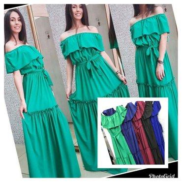 Divne duge haljine dostupna u zelenoj i krem boji - Batajnica