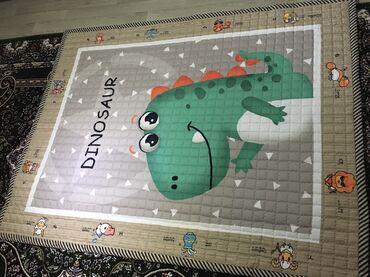 сумка для малышей в Кыргызстан: Детский коврик ДИНОЗАВРИК 150*200Мягкий тёплый Состояние отличное В