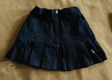 Юбка школьная плотный хлопок, на рост 120 см, длина юбки 29 см, талия