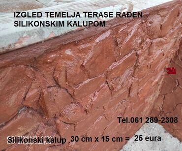 Kvalitetni silikonski kalupi za rustik kamen na zidu I dekoraciju