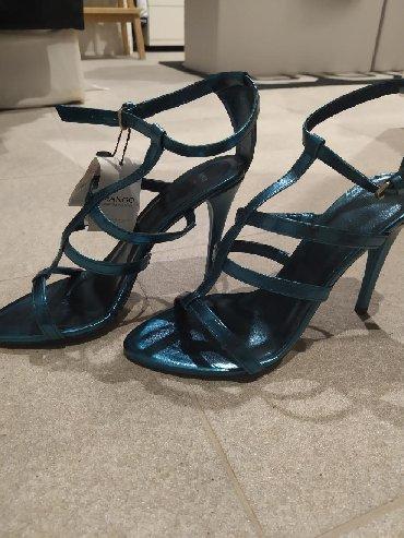 Mango metallic blue size 41 heels