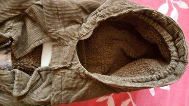 Jakna  braon decija somot jakna sa vunom unutra  novo - Pozarevac - slika 4