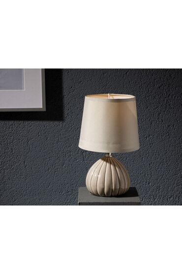 English Home Farfor lampa 12x12x24 Cm Bej. 2 ədədddir
