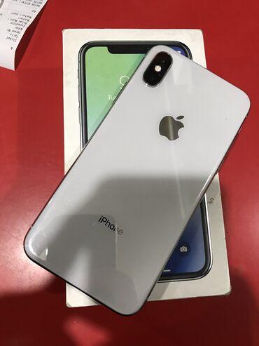 iphone чехол защита в Азербайджан: Б/У iPhone X 64 ГБ Белый