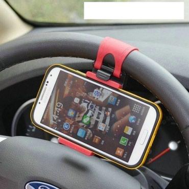 Univerzalni drzac telefona na volanu vozila. Obziran i praktičan, - Kragujevac