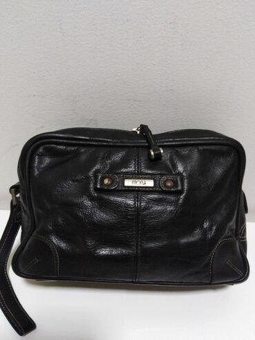 Sako crne boje - Srbija: MONA kožna torbica prirodna fina kvalitetna 100%koža,sa strane je veća