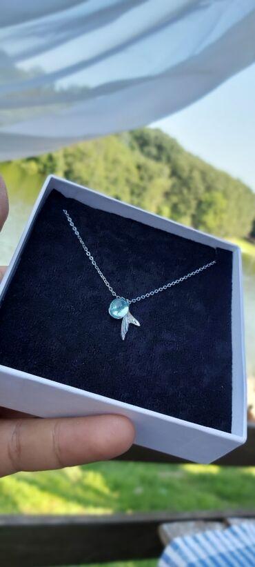 Privezak srebro - Srbija: Srebrna ogrlica i privezak  Srebro kvaliteta 925