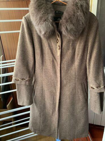 Пальто. Воротник из натурального меха. размер 44-46 носили один раз, к