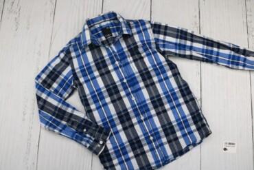 Товар: Рубашка подростковая Cubus, синяя с белым в клетку, возраст 12