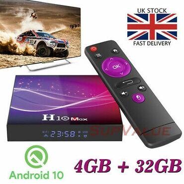 android tv box - Azərbaycan: Tv box h10 max android smart tv box ip original android smart tv box