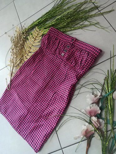 Topić karirana haljina Super model sa elastinom Vel S M L