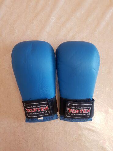 Перчатки - Бишкек: Боксерские перчатки размер L,состояние отличное