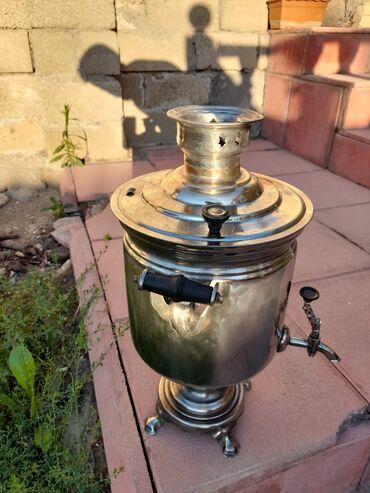 latun - Azərbaycan: 7 litr Tula peçatli mis latun qarişigi samovar.60 ci illerin