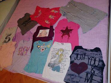 Duga haljina - Srbija: Vel. 8/128.Bluzice 10kom,haljine sa dugim rukavima 2kom.Bez ostecenja