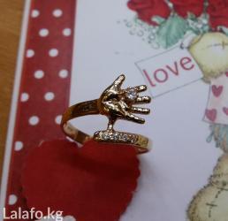 """""""Ручка младенца"""" кольцо из золота 585 пробы в Бишкек"""